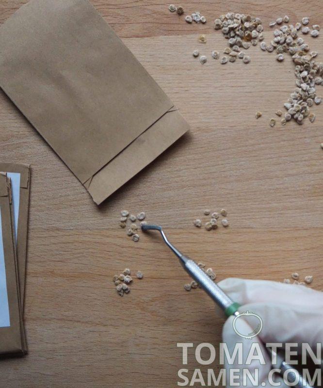Verpackungsprozess Tomatensamen