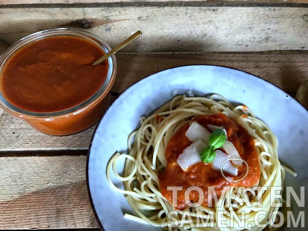 Rezept für leckere Tomatensauce